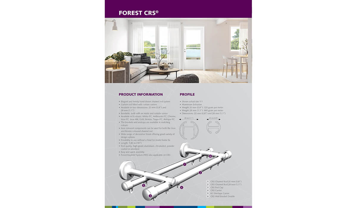 Forest CRS – 28mm Corded Channel Rod System